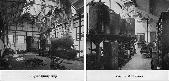 Engine-lifting shop and Engine shed stores
